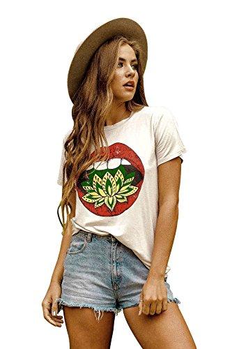 Life Clothing Co. Womens Lotus Kiss Elevado Tee Khaki (Kiss Ladies Tee)