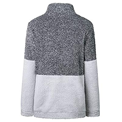 Women Casual Long Sleeve Pullover Stand Collar Fleece Coat Outwear at  Women's Clothing store