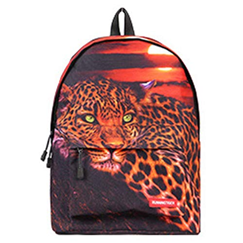 Gal Student Business Travel Polyester Bag Cheetah Pattern, Suitable for College Students, 14-inch Computer Mezzanine, Men and Women Breathable Shoulder Bag Packsack