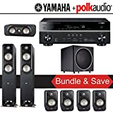 Polk Audio Signature S50 7.1-Ch Home Theater Speaker System with Yamaha RX-V781BL 7.2-Ch Network AV Receiver