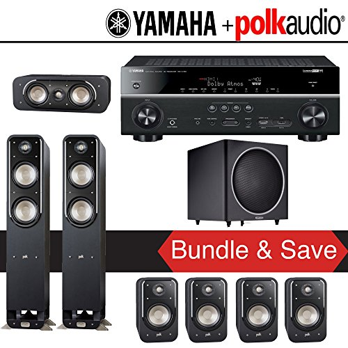 Polk audio signature s50 7 1 ch home theater speaker for Yamaha 7 2 home theatre system