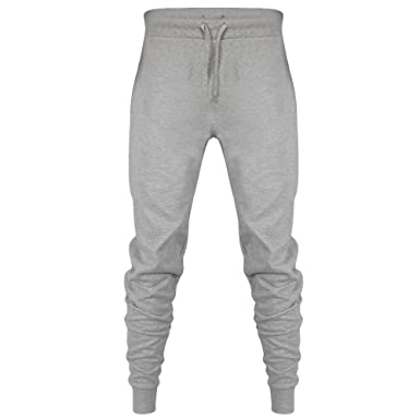 eb816e65ad Expert Workwear Mens Fleece Joggers Tracksuit Bottoms Sweat Jogging Cotton  Pants with Zip Pockets