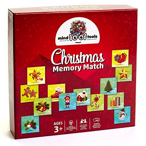 Mind Tools Christmas Memory Match Games for Preschoolers and Kids, 48 - Memories Match Tool