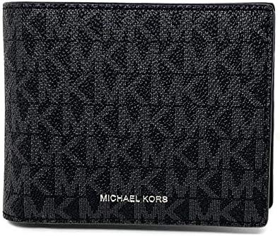 Michael Kors Men's Cooper Billfold with Passcase Wallet (Black)