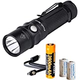 Fenix RC11 1000 Lumens Rechargeable Cree XM-L2 U2 LED Flashlight w/ 1x 18650 Rechargeable Battery, USB Charging Cable and 2x LumenTac CR123A Battery