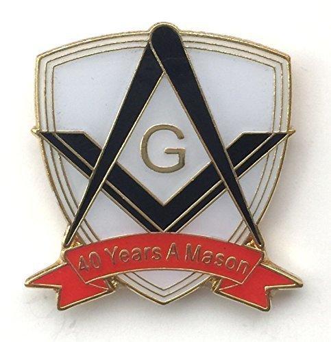 Confezione da 12, 40anni a Mason Masonic Commemorative Spilla  ESCLUSIVO