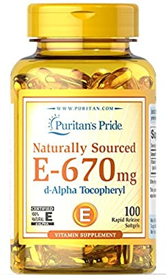Puritan's Pride Vitamin E- 670 mg 100% Natural-100 Softgels