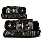01 chevy tahoe headlights - DNA Motoring HL-OH-CS99-4P-SM-AB Headlight Assembly, Driver and Passenger Side