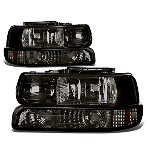 (DNA Motoring HL-OH-CS99-4P-SM-AB Headlight (Driver & Passenger)