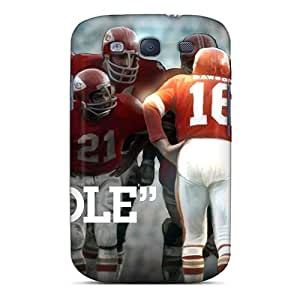 Shock Absorbent Hard Phone Cases For Samsung Galaxy S3 With Unique Design Attractive Kansas City Chiefs Pattern LavernaCooney