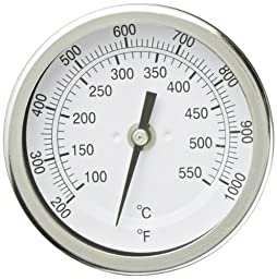 PIC Gauge B3B6-TT Stainless Steel Bimetal Thermometer with Back Connection, 3\