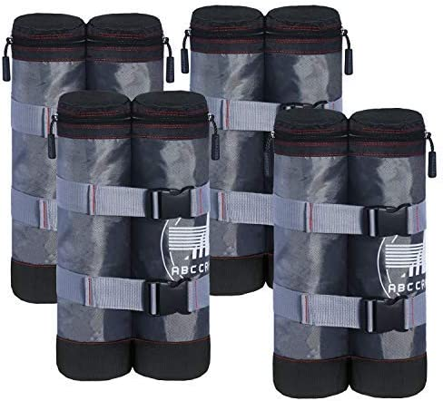 ABCCANOPY Canopy Weight Bags for Pop up Canopy Instant Canopies Shelter, Sand Bags Gray Black