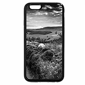 iPhone 6S Case, iPhone 6 Case (Black & White) - Countryside path