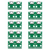 UEB 10pcs MICRO USB to DIP Adapter 5pin Female Connector B Type Pcb Converter