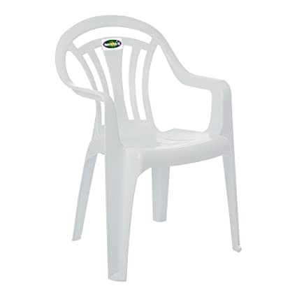 Whatmore White Plastic Garden Chair 11840 Amazon Co Uk Kitchen Home