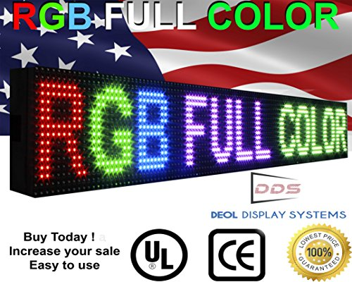 """Full Color 6""""x25"""" Programmable Text Animation Graphic Sem..."""