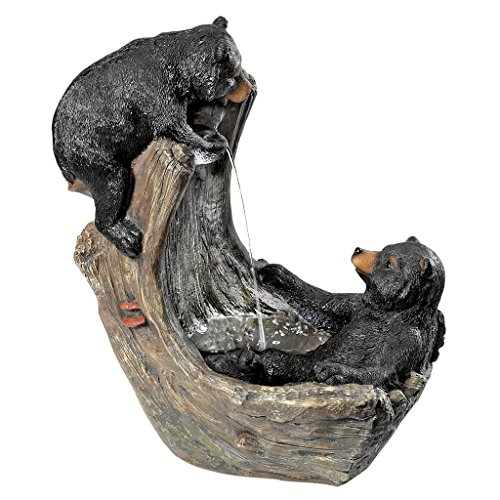 Design Toscano Bathing Black Bear Cubs Cascading Garden Fountain by Design Toscano