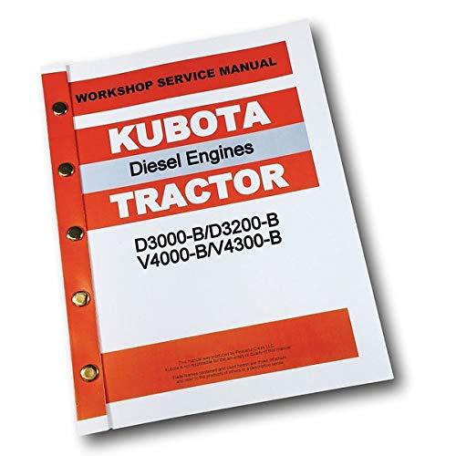 Kubota D3000 D3200-B V4000 V4300-B Diesel Tractor Engine Service Manual Ovhl