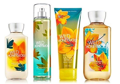 Wild Honeysuckle Gift Set Signature Collection - Bath & Body Works - Body Lotion - Fragrance Mist - Body Cream & Shower Gel Full ()