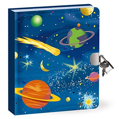 Peaceable Kingdom / Deep Space Glow in the Dark Lock & Key Diary (Lock Diary Key And Boys)