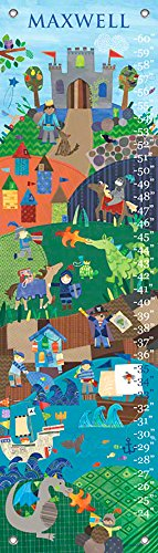 Knights & Dragons by Jill McDonald - Personalized Growth Charts, - Mcdonald Jill Personalized