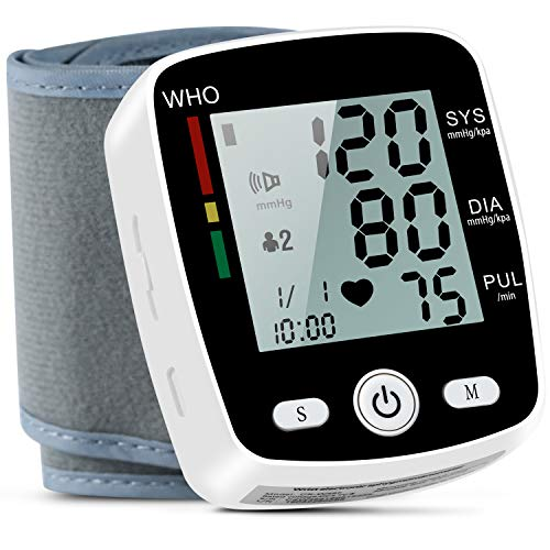 Blood Pressure Monitor, FDA Approved Automatic Digital BP Monitor Irregular Heart Beat Detection with Large Display Screen& Voice Prompt Support Charging Supply for Home Travel Use (5.3