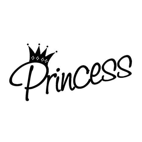 Newin Star DIY 28 * 61cm princesa-Cita de la palabra Tatuaje de ...