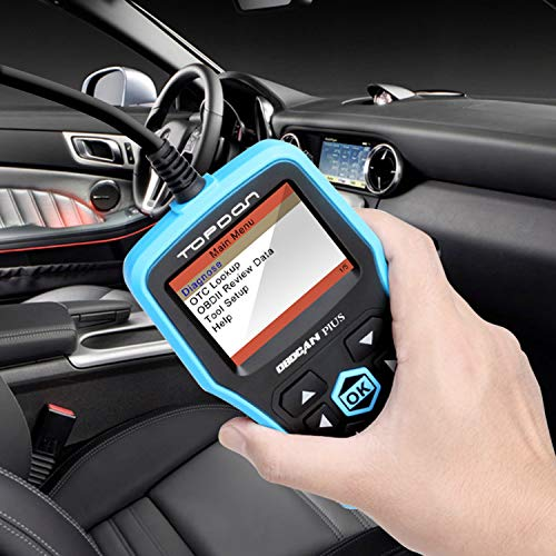 Topdon Car OBD2 Scanner, Plus Professional Car Diagnostic Scanner OBD2 Full Function with DTC Lookup and Free Update by TT TOPDON (Image #2)