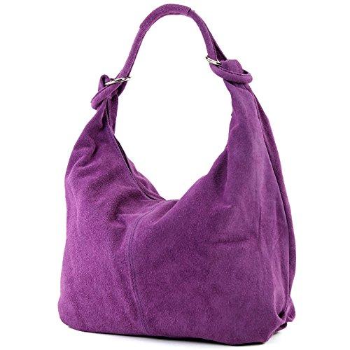 tela de Made mujer Bolso Italy Wildleder para Lavendel pxA8Zqwa