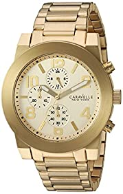 Bulova Men's Quartz Stainless Steel Casual Watch, Color:Gold-Toned (Model: 44A105)