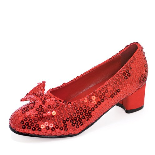 Child Red Sequin Shoes Medium (13-1) -