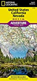 United States, California and Nevada (National Geographic Adventure Map)