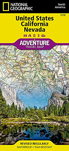 - United States, California and Nevada (National Geographic Adventure Map)