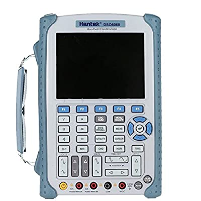 Hantek DSO8060 Digital Multimeter Oscilloscope 2 Channels 60Mhz Handheld Osciloscopio Portatil 5 in 1 Spectrum Analyzer DMM