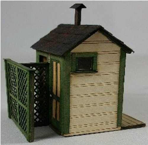 GC Laser HO Scale 2-STALL Privy with Privacy Fence 1-11//16X 1-1//4X 1-11//16 New Kit #19100