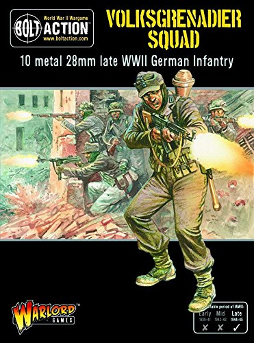 (Bolt Action Volksgrenadiers (10 Models) Box - Metal)