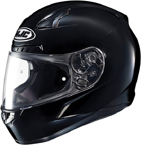 HJC CL-17 Full-Face Motorcycle Helmet (Black, Large) (Best Full Face Helmet For The Money)