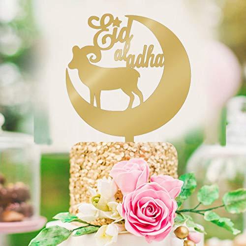 AMOFINY Home Decor Eid Mubarak Ramadan Wedding Cake Topper Muslim Islam Hajj Cupcake Party Decoration