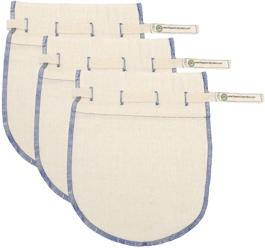 Reusable Jelly Strainer Bags - 100% Organic Cotton Juice Strainer Bags - Large, Reusable, Washable, and Biodegradable Kefir, Kava, Pulp & Yogurt Strainer Bags (3 Medium - 6