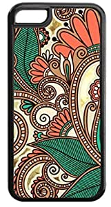 03-Paisley Kaleidescope- Case for the APPLE IPHONE 6 PLUS ONLY! (NOT COMPATIBLE WITH THE STANDARD IPHONE 6) -Quality Hard Black Plastic Iphone Case