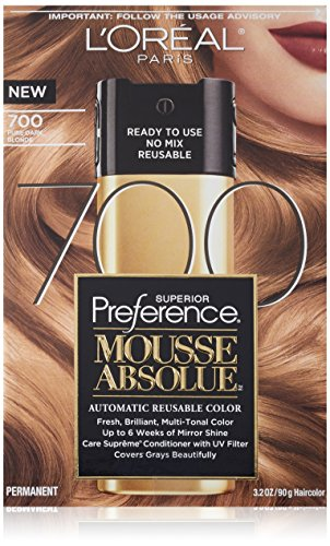 L'Oreal Paris Superior Preference Mousse Absolue, 700 Pure Dark Blonde ()