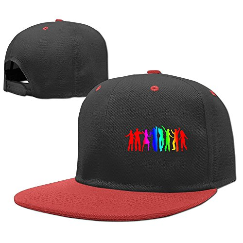 Custom Unisex Dance Together Adjustable Hip Hop Cap Hats Red