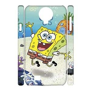 HXYHTY SpongeBob Phone 3D Case For Samsung Galaxy S4 i9500 [Pattern-1]