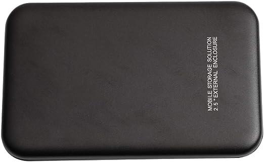 ポータブル外付けハードドライブディスク、USB3.0 2.5インチSATA HDDケースプラスチック+ケーブル高速データ転送ストレージ(ブラック) - 2T