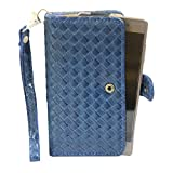 J Cover A9 I Elegant Series Leather Carry Case Cover Pouch Wallet Case For Micromax Canvas A82 Dark Blue