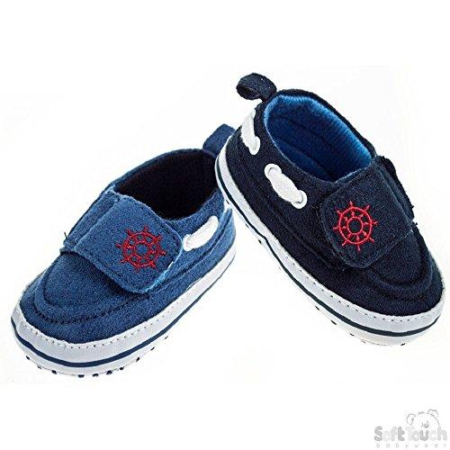 Mellow Be - Zapatos primeros pasos de Lona para niño azul oscuro