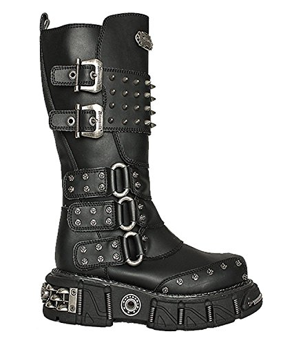Spiked Double Buckle Strap Steampunk Grunge Mad Max Military Men's Boots (8)