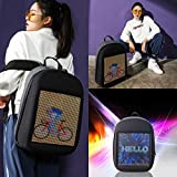 Novel Smart LED Backpack Cool Black Customizable