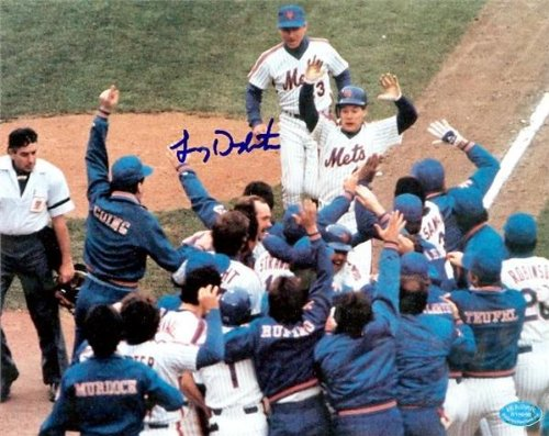 Autograph Warehouse 10692 Lenny Dykstra Autographed 8 x 10 Photo New York Mets 1986 World Series Champion 1986 Nation League Championship Series Game 3 Winning Home Run -