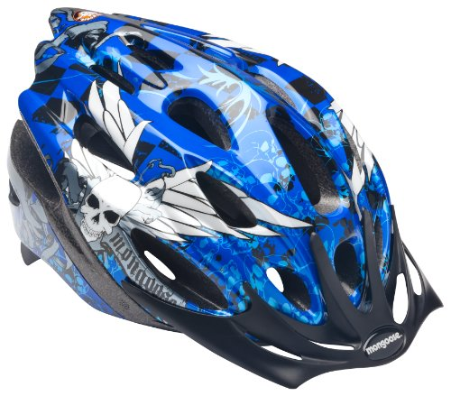Buy Mongoose Youth Thrasher Helmet, Blue Skulls